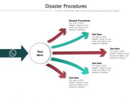 Disaster Procedures Ppt Powerpoint Presentation Styles Icons Cpb