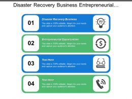 Disaster Recovery Business Entrepreneurial Opportunities Business Acquisition Closing Selling