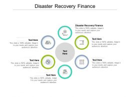 Disaster Recovery Finance Ppt Powerpoint Presentation Ideas Layout Ideas Cpb
