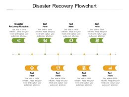 Disaster Recovery Flowchart Ppt Powerpoint Presentation Visual Aids Pictures Cpb