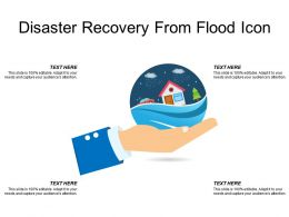 Disaster Recovery From Flood Icon