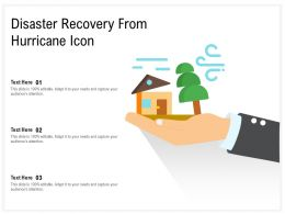 Disaster Recovery From Hurricane Icon