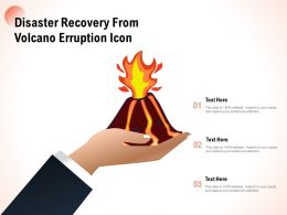 Disaster Recovery From Volcano Erruption Icon
