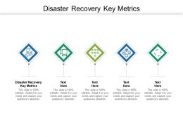 Disaster Recovery Key Metrics Ppt Powerpoint Presentation Model Icons Cpb