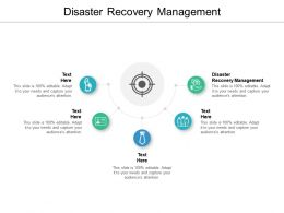 Disaster Recovery Management Ppt Powerpoint Presentation Model Microsoft Cpb