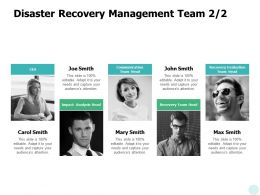 Disaster Recovery Management Team Communication Ppt Powerpoint Presentation Gallery Vector
