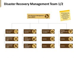 Disaster Recovery Management Team Design Team Ppt Powerpoint Presentation Pictures Tips