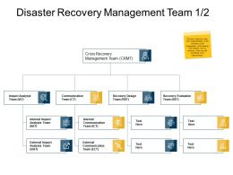 Disaster Recovery Management Team Impact Analysis Ppt Presentation Slides
