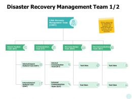 Disaster Recovery Management Team Management Ppt Powerpoint Presentation Icon Example File