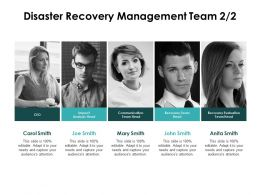 Disaster Recovery Management Team Recovery Evaluation Ppt Powerpoint Slides