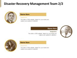 Disaster Recovery Management Team Teamwork Ppt Powerpoint Presentation Outline Vector