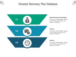 Disaster Recovery Plan Database Ppt Powerpoint Presentation Outline Designs Cpb
