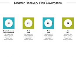 Disaster Recovery Plan Governance Ppt Powerpoint Presentation Professional Cpb