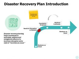 Disaster Recovery Plan Introduction Ppt Powerpoint Presentation Icon Samples