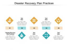 Disaster Recovery Plan Practices Ppt Powerpoint Presentation Ideas Background Image Cpb