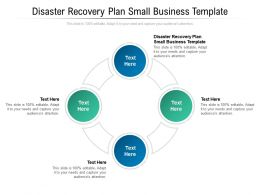 Disaster Recovery Plan Small Business Template Ppt Powerpoint Presentation Professional Graphics Download Cpb