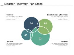 Disaster Recovery Plan Steps Ppt Powerpoint Presentation Model Outfit Cpb