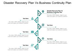 Disaster Recovery Plan Vs Business Continuity Plan Ppt Powerpoint Presentation Outline Graphics Cpb