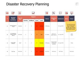 Disaster Recovery Planning Arrow Location Ppt Powerpoint Presentation Professional Portfolio