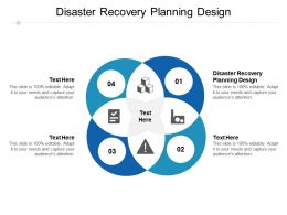 Disaster Recovery Planning Design Ppt Powerpoint Presentation Model Example Introduction Cpb