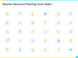 Disaster Recovery Planning Icons Slides Planning Ppt Powerpoint Presentation File Graphics