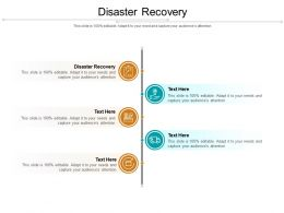 Disaster Recovery Ppt Powerpoint Presentation Pictures Demonstration Cpb