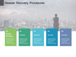 Disaster Recovery Procedures Ppt Powerpoint Presentation Layouts Summary Cpb