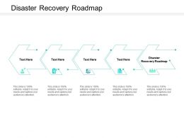 Disaster Recovery Roadmap Ppt Powerpoint Presentation Pictures Master Slide Cpb
