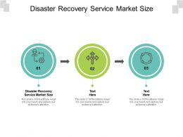 Disaster Recovery Service Market Size Ppt Powerpoint Presentation Pictures Vector Cpb