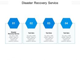 Disaster Recovery Service Ppt Powerpoint Presentation Professional Grid Cpb