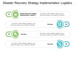 Disaster Recovery Strategy Implementation Logistics Ppt Powerpoint Examples Cpb