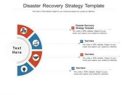 Disaster Recovery Strategy Template Ppt Powerpoint Presentation Layouts Brochure Cpb