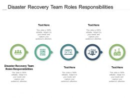 Disaster Recovery Team Roles Responsibilities Ppt Powerpoint Presentation File Guidelines Cpb