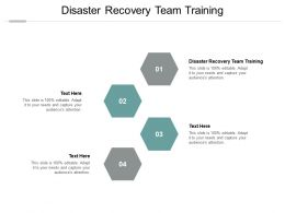 Disaster Recovery Team Training Ppt Powerpoint Presentation Gallery Design Inspiration Cpb