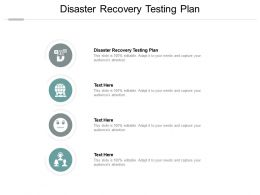 Disaster Recovery Testing Plan Ppt Powerpoint Presentation Slides Layouts Cpb