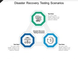 Disaster Recovery Testing Scenarios Ppt Powerpoint Presentation Ideas Graphics Cpb