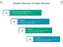 Disaster Recovery Vs Cyber Recovery Ppt Powerpoint Presentation Model Visual Aids Cpb