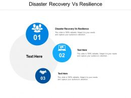 Disaster Recovery Vs Resilience Ppt Powerpoint Presentation Professional Graphics Cpb