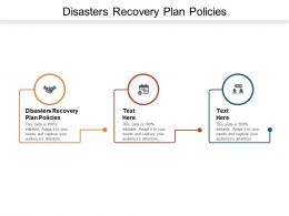 Disasters Recovery Plan Policies Ppt Powerpoint Presentation Slides Guidelines Cpb