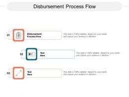Disbursement Process Flow Ppt Powerpoint Presentation Infographics Show Cpb