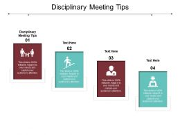 Disciplinary Meeting Tips Ppt Powerpoint Presentation Model Outfit Cpb