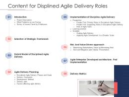 Disciplined Agile Delivery Roles Content For Displined Agile Delivery Roles Ppt Powerpoint Icon