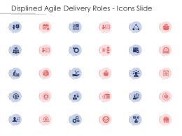Disciplined Agile Delivery Roles Displined Agile Delivery Roles Icons Slide Ppt Professional