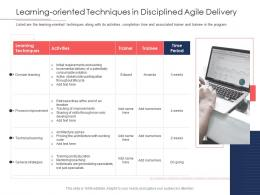 Disciplined Agile Delivery Roles Learning Oriented Techniques In Disciplined Agile Delivery Ppt Grid