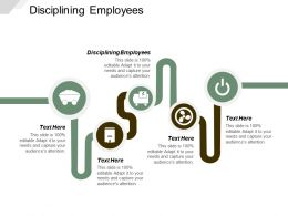 Disciplining Employees Ppt Powerpoint Presentation Icon Background Images Cpb
