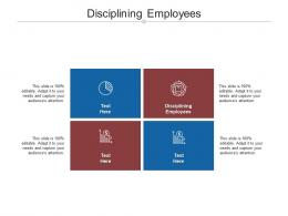 Disciplining Employees Ppt Powerpoint Presentation Ideas Background Designs Cpb