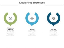 Disciplining Employees Ppt Powerpoint Presentation Model Layout Cpb