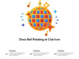 Disco Ball Rotating At Club Icon