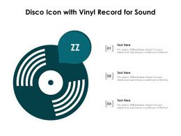 Disco Icon With Vinyl Record For Sound