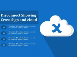 Disconnect Showing Cross Sign And Cloud